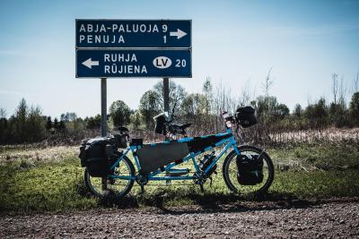 Knapp an der Grenze zu Lettland, auf dem Weg zum Ikla-Oandu-Wanderweg