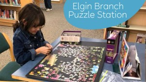 Visit the Elgin Branch puzzle station