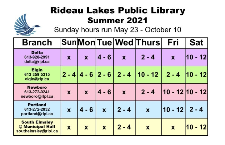 Rideau Lakes Public Library Hours image