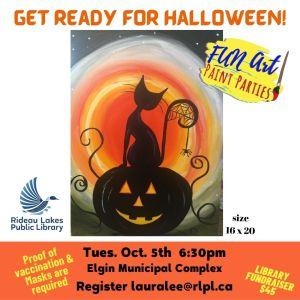 Paint Night Fundraiser - theme Halloween