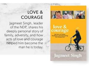 Love and courage by Jagmeet Singh book cover
