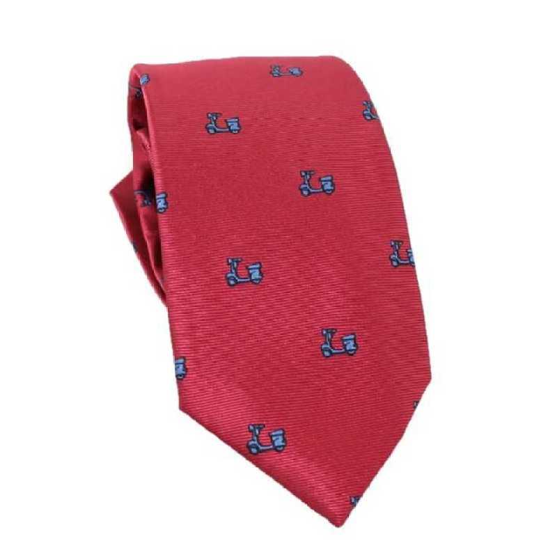 Corbata roja estampado vespa