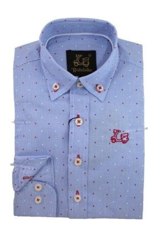 Camisa niño algodón milrayas estampado