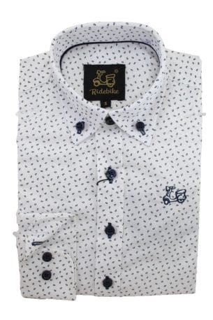 Camisa Niño Algodón Estampado Hojas