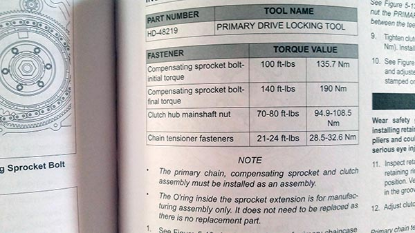Tools and Torque Specifications - Ride it Wrench It