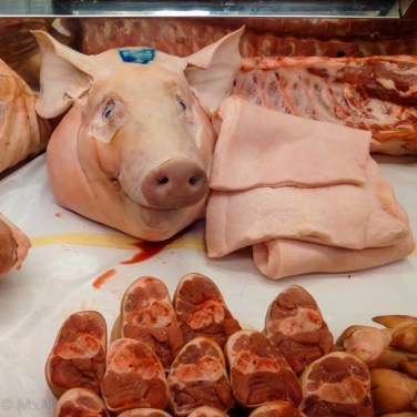 ugh- love ham, but not when it's smiling at me...