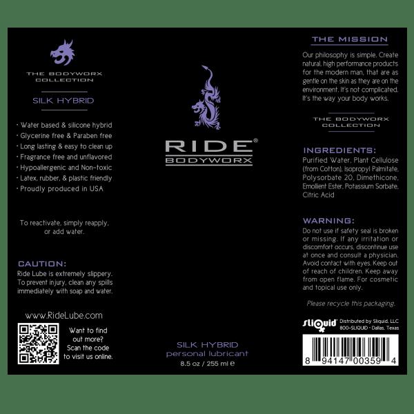 Ride BodyWorx Silk Hybrid 8.5oz - Label Graphic