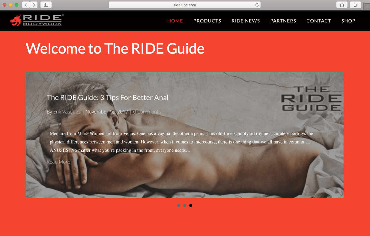 the ride guide for the modern man