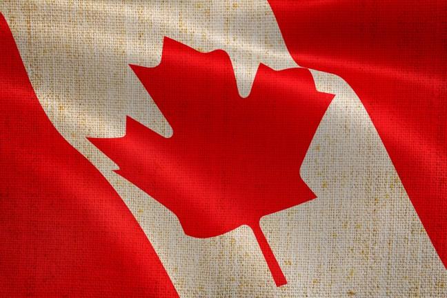 Canada Flag on textile