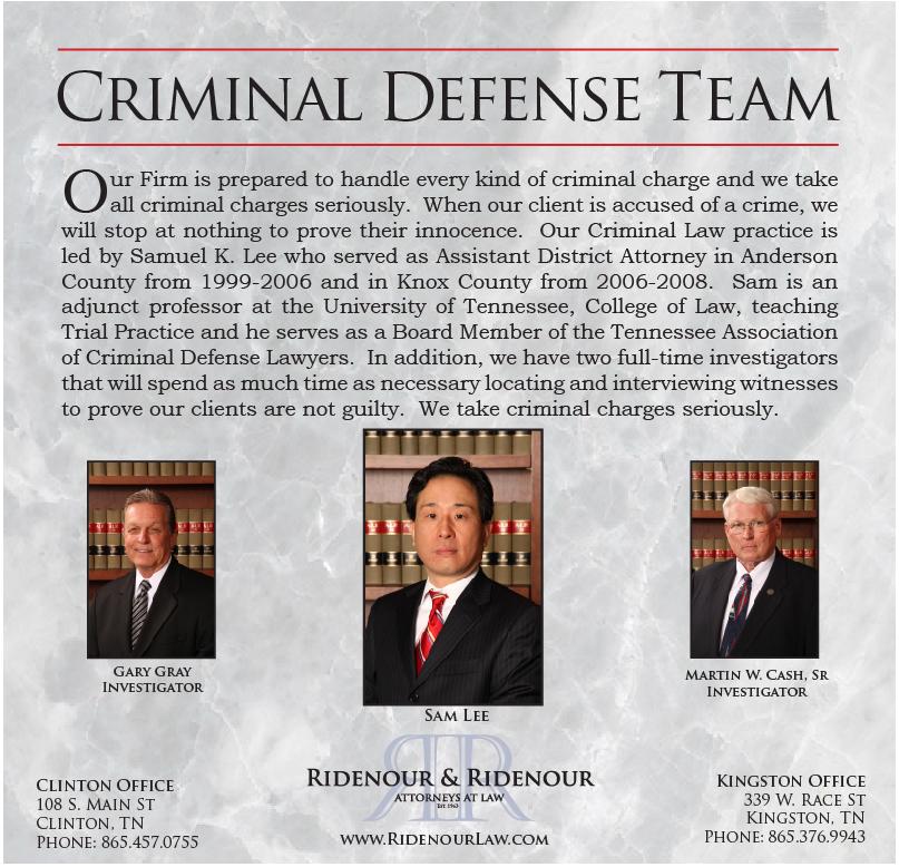 Ridenour and Ridenour Criminal Defense Team 1