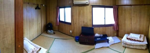 Inside our room at the ryokan in Osaka (Izumisano)