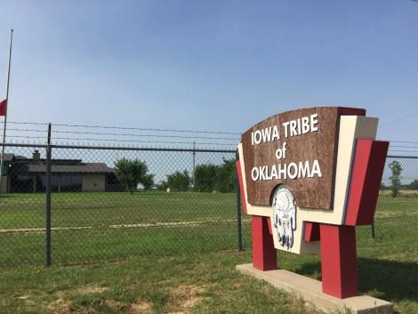 Just west of Highway 177 you pass through Kiowa Tribal Headquarters.