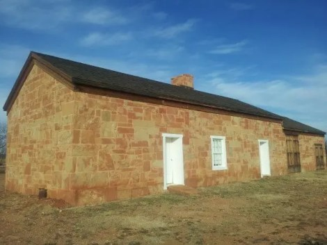 """Typical stage station on the Butterfield Overland Mail route. This one is in Fort Chadbourne. """"Fort Chadbourne Stage Station"""" by Pi3.124 - Own work. Licensed under CC BY-SA 3.0 via Commons - https://commons.wikimedia.org/wiki/File:Fort_Chadbourne_Stage_Station.jpg#/media/File:Fort_Chadbourne_Stage_Station.jpg"""""""