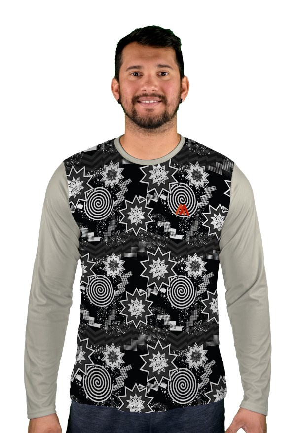 long sleeve top of the pops mens mtb jersey