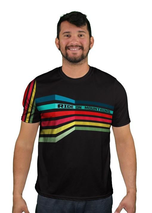 short sleeve futurist mens mountain bike jersey