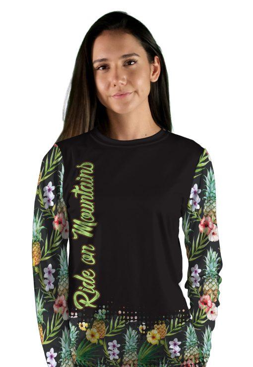 womens long sleeve pineapple express mountain bike jersey
