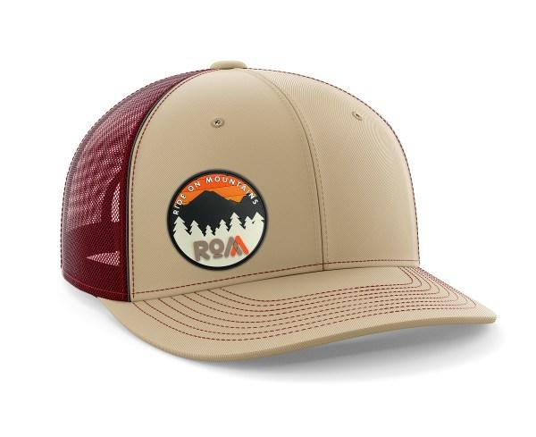 Circle PVC Maroon-Tan Trucker Hat