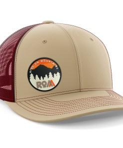 mens trucker hat maroon outdoors