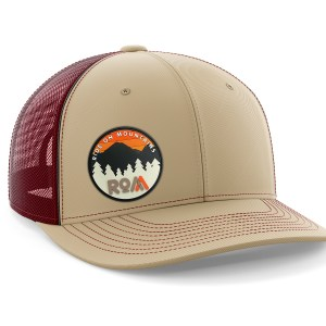 Circle PVC Maroon-Tan Trucker Hat