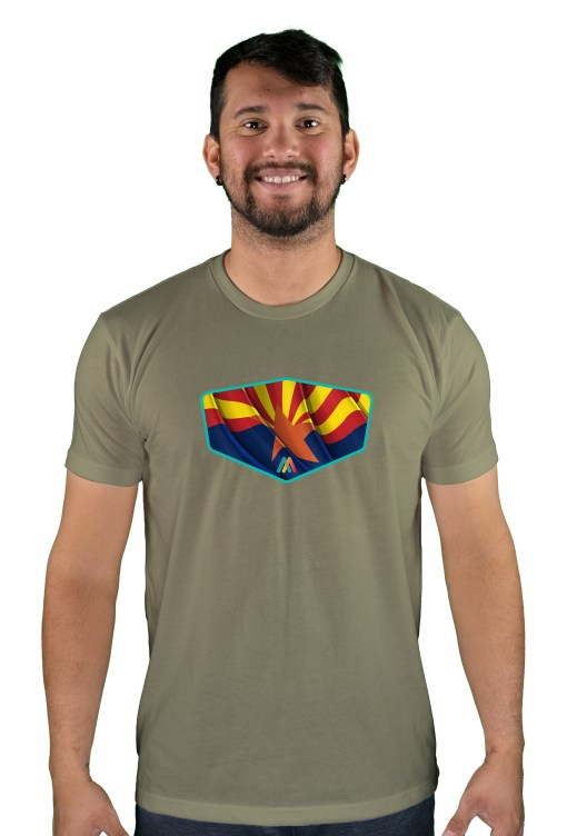 mens mtb copper state light olive t-shirt
