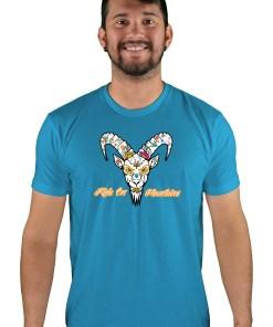 mens mtb el muerto turquoise t-shirt