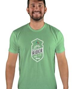 mens mtb mountain rider apple green t-shirt