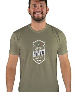 mens mtb mountain rider light olive t-shirt