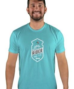 mens mtb mountain rider tahiti blue t-shirt