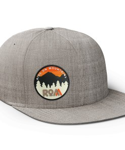 brushed grey hat flat bill outdoors