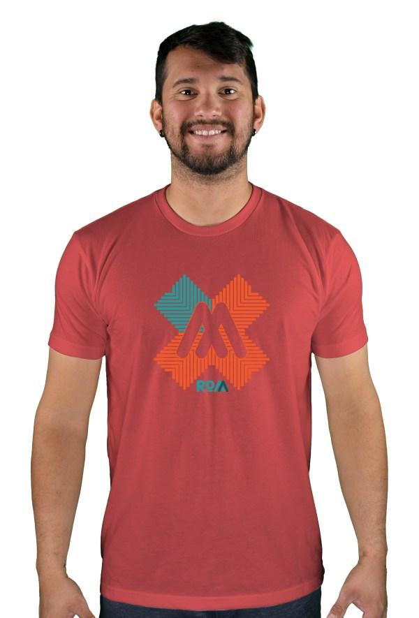 mens mtb rom-x cardinal t-shirt