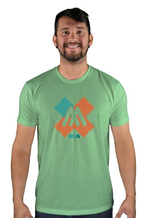 mens mtb rom-x green apple t-shirt