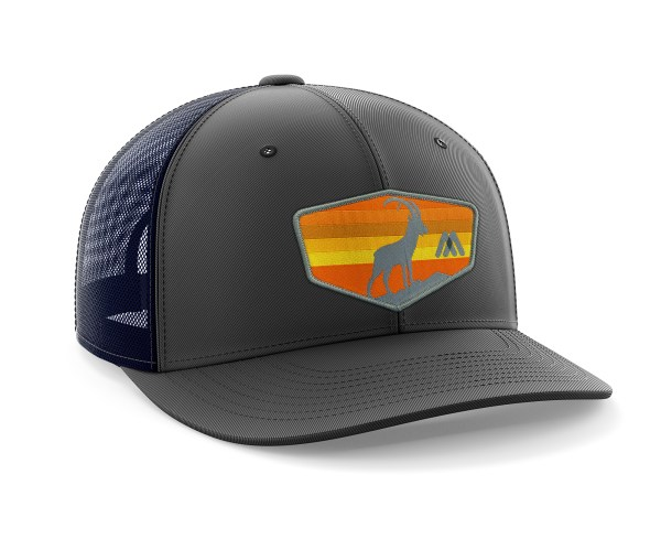 Tizi Sunset Black-Navy Trucker Hat