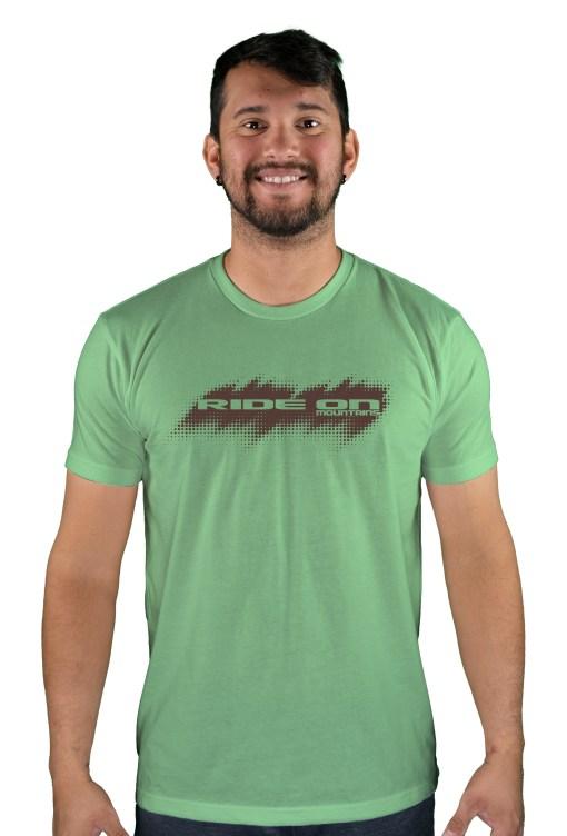 mens mtb tire tread apple green t-shirt