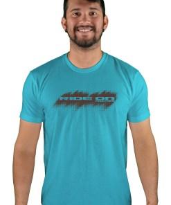 mens mtb tire tread bondi blue t-shirt