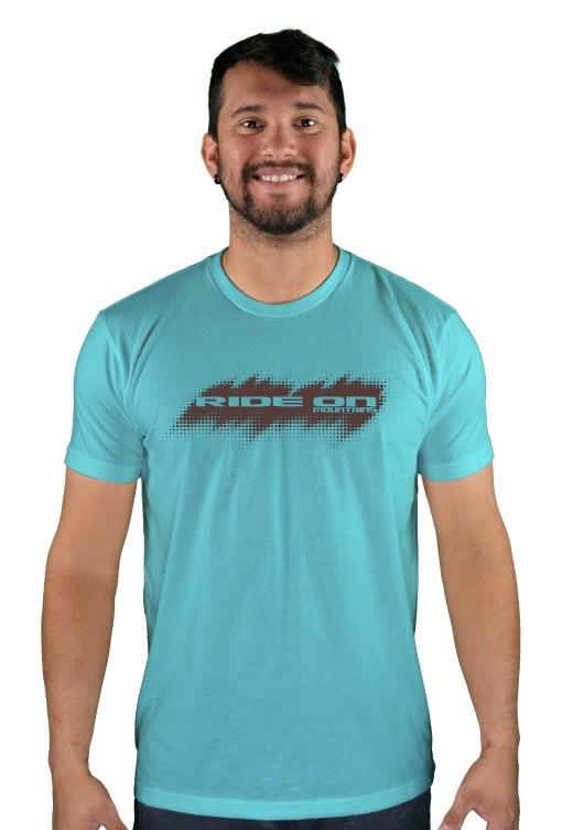 mens mtb tire tread tahiti blue t-shirt