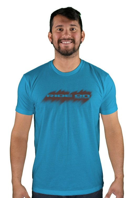 mens mtb tire tread turquoise t-shirt