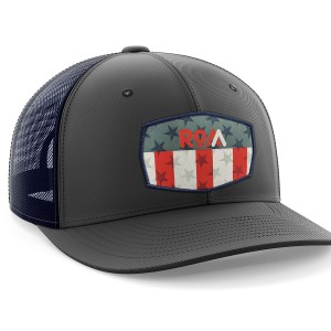 USA Patch Grey Trucker Hat
