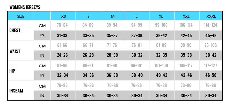 Womens Jerseys size chart-03