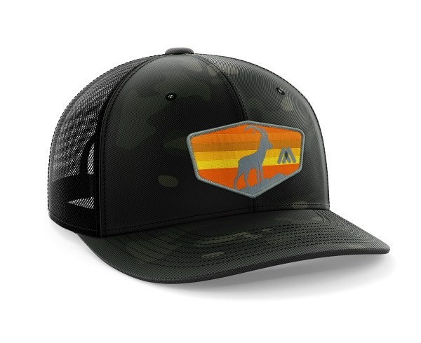 Dark Green-Black Camo Hat