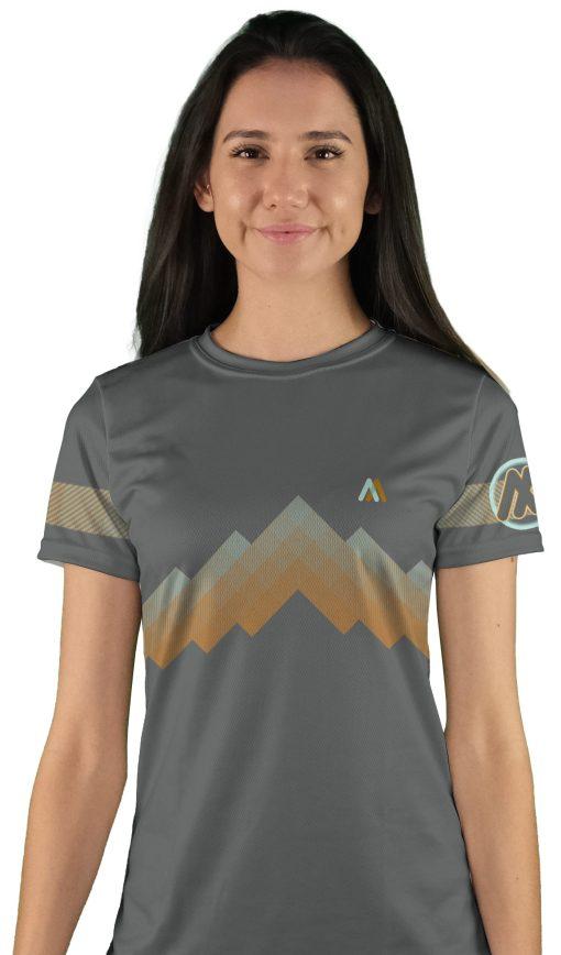 womens short sleeve arizona trail mountain bike jersey