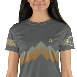 womens short sleeve arizona trail mountain bike jersey