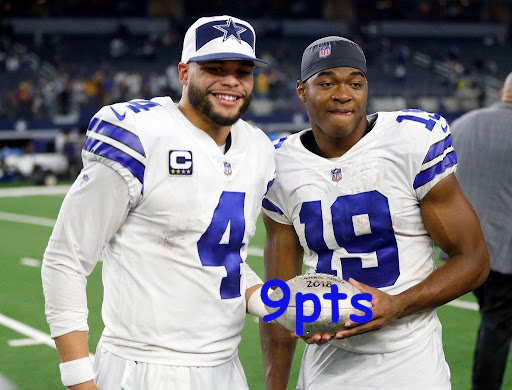 dak and amari combined for 9 fantasy points