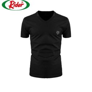 Rider Xtracool Tshirt Man R259BWH Hitam Pcs 1 in 1 Kerah V