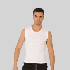 Rider Sport Tanktop Man R226BP White Pcs 1 in 1 V Neck