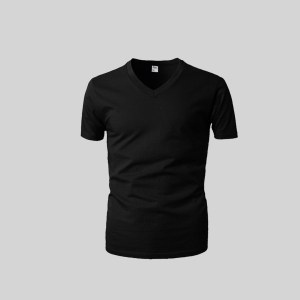 Rider Lifestyle Tshirt Man R222BWH Black Pcs 1 in 1 V Neck