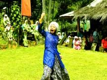Pementasan Teater dalam Pagelaran Seni Budaya di Situs Gunung Padang oleh MAN 1 Cianjur Desa Karyamukti, Kecamatan Campaka Cianjur, Jawa Barat