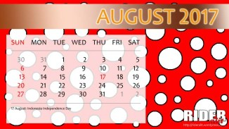 Kalender 2017 - Agustus