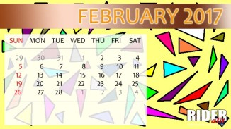Kalender 2017 - Februari