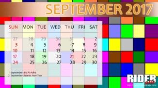 Kalender 2017 - September