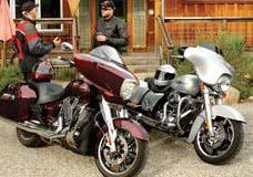 2010 Harley-Davidson Street Glide vs. 2010 Victory Cross Country